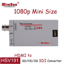 HSV191 MiraBox Extender HDMI to SDI Converter Mini 3G FUll HD 1080P to BNC SD/HD/3G-SDI Adapter for Driving HDMI Minotors