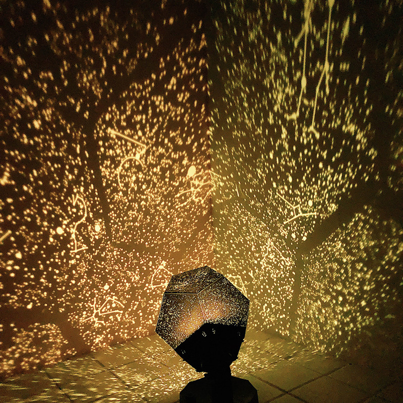 DIY 3 Color LED Star Celestial Night Light LED Star Projector Lamp  Kid/'s Gift