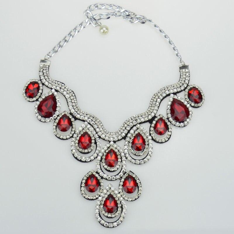 fashion Design Elegant handmade tetragonum crystal Romantic style Choker necklace pendants for women party or