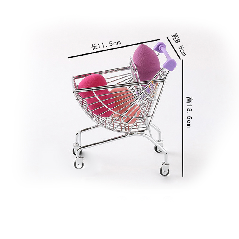 G05-X5136 Children Baby Gift Toy 1:12 Dollhouse Mini Furniture Miniature Rement Accessories An-shaped Shopping Cart 1pcs