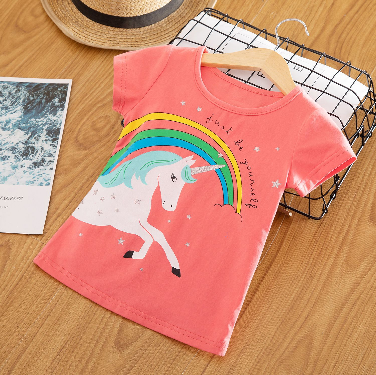 Baby Unicorn T-Shirts Tees Short-Sleeve Party-Tops Girl Clothes Toddler Kids 3 Summer