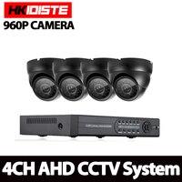 HKISDISTE 1080N DVR 2500TVL 960P HD Outdoor Security Camera System 1TB Hard Drive 4CH DVR CCTV