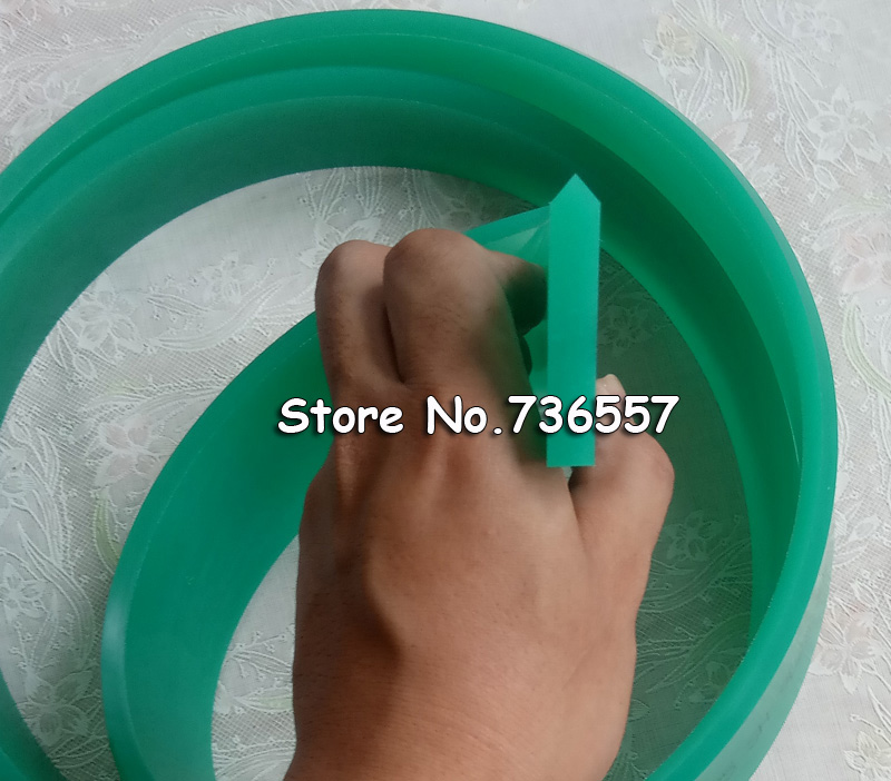 Red Green 50mm*9mm*3660mm!!! Screen Printing Flat Pointed Squeegee Rubber Blade_65A 75A Durometer free shipping 50 9mm flat screen printing squeegee rubber blade 75a durometer 1 meter