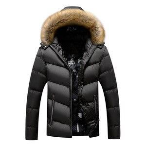Image 3 - BOLUBAO Marke Männer Warme Parka Hohe Qualität Winter Männliche Mit Kapuze Mantel Jacken Casual Pelz Kragen Winddicht herren Parka