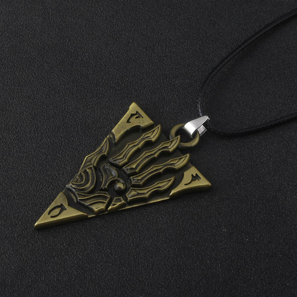 Details about The Elder Scrolls Morrowind Letter Necklaces Skyrim Dinosaur  Vintage Triangle