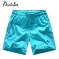 5 Cores Mens shorts verão 2016 Sólidos-secagem Rápida Calções Impressão Shorts Homens calções De Marca Famosa Ocasional Solto