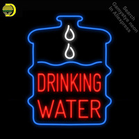 Drinking Water Neon Sign Handmade neon bulb Sign real Glass Tube neon light Recreation Game Room Iconic Sign metal frame