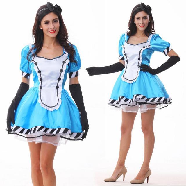2017 Hot Alice Fantasy Wonderland Blue Lolita Maid ...
