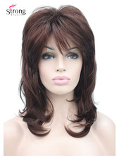 Long Shaggy Layered Dark Auburn Classic Cap Full Synthetic Wig Womens Wigs COLOUR CHOICES