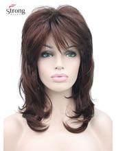 Perruque synthétique complète, casquette classique Auburn foncée, perruque Shaggy longue à couches pour femmes, couleur au choix