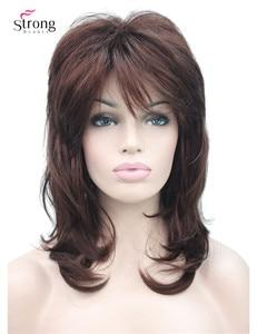 Image 1 - Peruca longa de camadas com ombro escuro, peruca clássica sintética completa escolhas coloridas