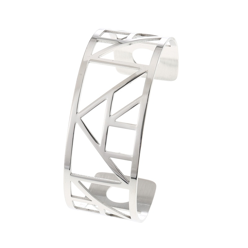 Cremo Pyramid Bracelets Bangles For Women Argent Femme Stainless Steel Bijoux Geometric Jewelry Interchangeable Leather Bangle in Bangles from Jewelry Accessories