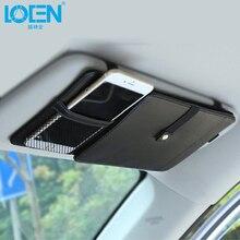 Горячая распродажа универсальный кожаный автомобильные козырек от солнца держатель для карт очки CD-диск сумка для хранения зонтика карман-органайзер черный белый
