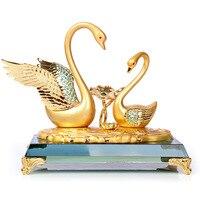 Crystal Swan ornaments crafts creative wedding gift wedding souvenirs utility grade girlfriends send to friends