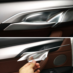 Image 5 - Puxador para maçaneta de porta em abs, 4 unidades, estilo de carro, abs, fibra de carbono, tigela, guarnição para bmw x5 f15 x6 f16 2014 2015 2016 2017 2018