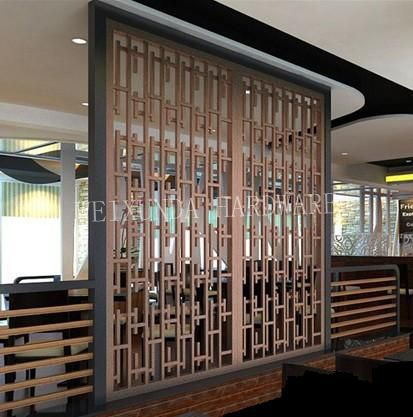 PF010 restaurant screen divider bronze decorative stainless steel ...