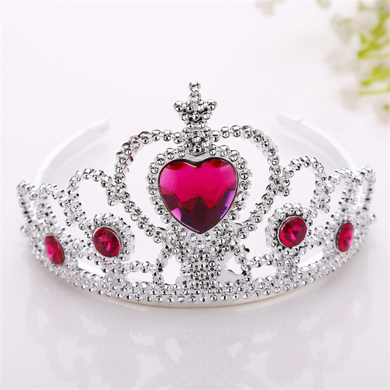 AKWZMLY 1PC Crown Princess Hair Band Wedding Party Hairpin Hair Accessories Children Girls Tiara Crystal Bridal Headband Jewelry  2pcs 1lot little ponys princess braid wig hair clips hairpin headdress party hairgrips cosplay hair accessories headband