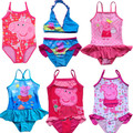 2017 Peppa Pig Swimwear Nuevos Cabritos de Las Muchachas de Hadas Tinkerbell Tankini Beachwear Bikini traje de Baño Del Vestido 3-9Y Bañarse Venta Caliente