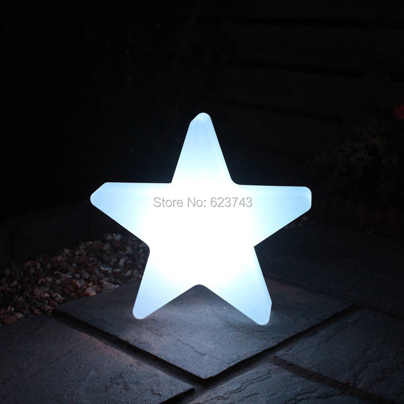 New brand outdoor landscape PP waterproof colorful Star Glow LED Luminous Light star led lamp for Christmas showing lighting led star ca 410