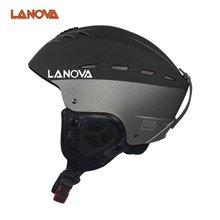 LANOVA marka profesjonalne narty kask dorosłych skating kask narciarski człowiek/deskorolka kaski kask wielokolorowe sportów zimowych