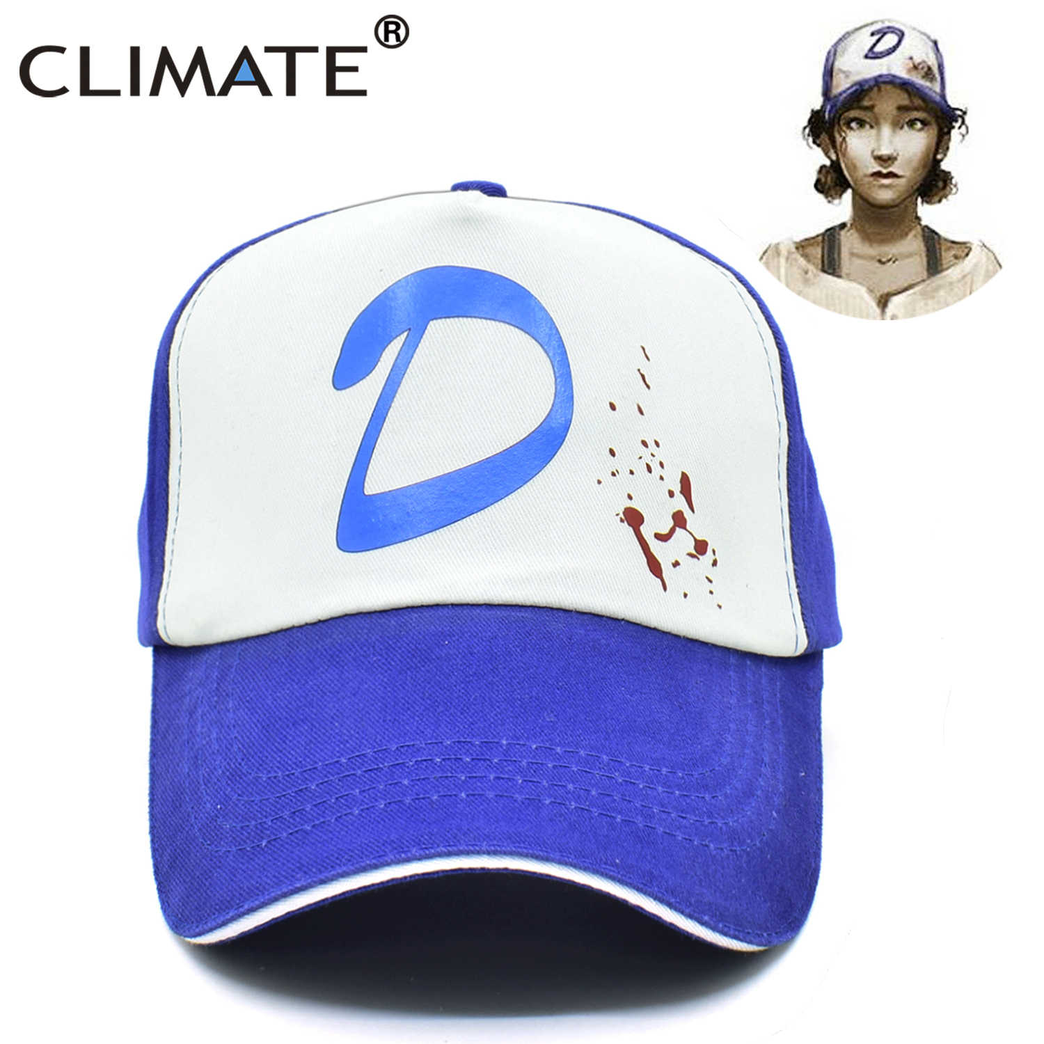 a5356ea5861 ... CLIMATE Clementine The Walking Dead Game Cap Clementine Hat Cap Clem s  Cosplay Trucker Cap Girl Coser ...