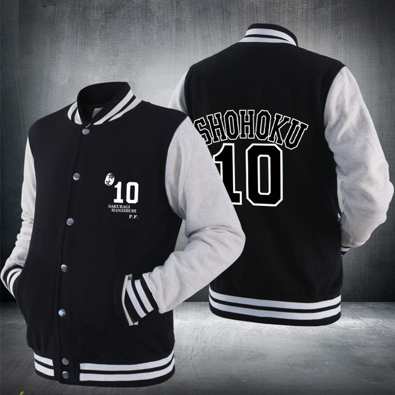 Japanese Amine SLAM DUNK Hanamichi Sakuragi Rukawa Kaede Basketball Uniform Clothing Hoodies Baseball Coat Winter Sweat