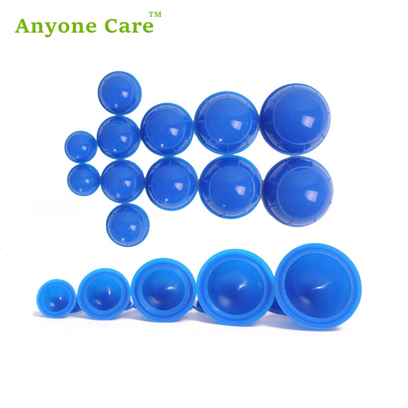 Health care 12cups/set easy suction personal body massage relaxation cupping treatment silicone rubber Cupping set 1pcs silicone health care face eye anti age cupping cups facial lifting massage silicone cupping cups health care