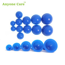 Health care 12cups/set easy suction personal body massage relaxation cupping treatment silicone rubber Cupping set