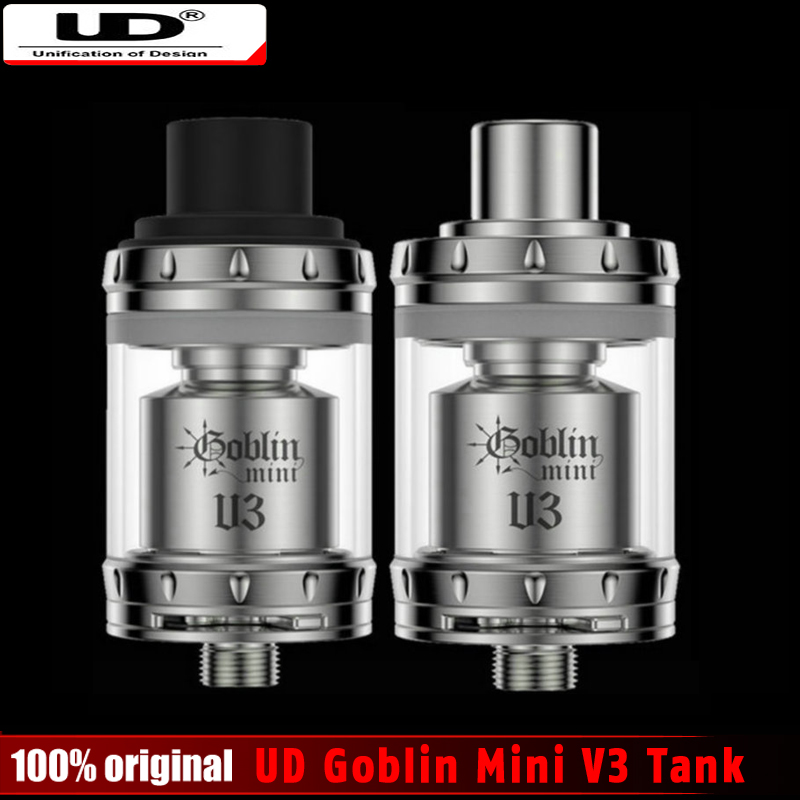 100% Original Youde UD Goblin Mini V3 RTA Tank 2ml Velocity Deck Silde Top Refilling Atomizer with Advanced Airflow System