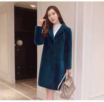 women winter thick coats and jackets female warm natural Merino Sheep Fur casual plus size female middle long sleeve outwears - DISCOUNT ITEM  49% OFF All Category
