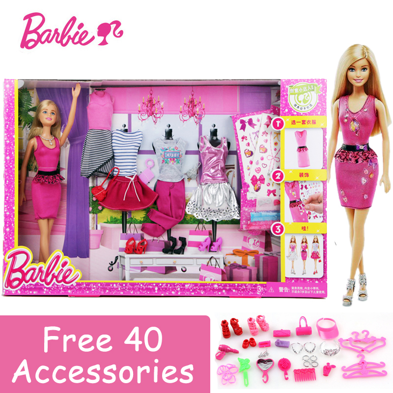 Fashion Dress Up Barbie Dolls 5 Styles Clothes DIY Model Pose Girl Toys For Little Girl Birthday Gift Barbie Boneca DKY29 цены онлайн