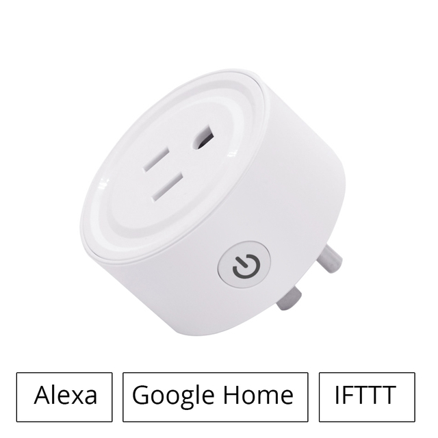 US $21 14 |Ewelink WIFI Smart Plug Work With Alexa Google Home US Outlet  For Home Electric Devices DIY Support IOS Android Phone-in Smart Remote