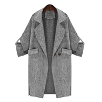 Fashion Slim Fit Women Casual Oversized Long Sleeve Coat Comfortable Material Wind Coat Cardigan Top For