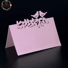 40pcs Laser Cut Love Birds Table Name Cards