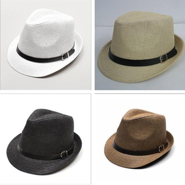 Elegante Sombrero de Verano Sombrero de Paja Salacot Del Casquillo Del  Sombrero de Fedora del sombrero 0f9a07ad134