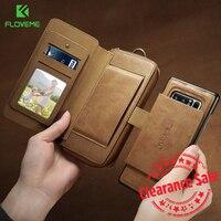 FLOVEME Business Wallet Phone Cases For Samsung Galaxy S8 S7 S6 Edge Plus Case Luxury Retro