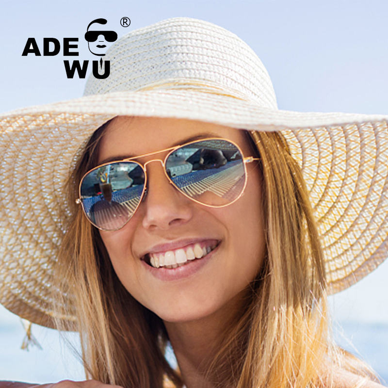 ADE WU Fashion Womens Sunglasses Brand Designer 2017 Luxury Sunglasses Women Pilot Sun Glasses For Women gafas de sol mujer
