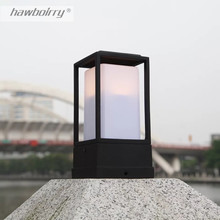 HAWBOIRRY retro style courtyard wall lamp waterproof rust outdoor column villa park lawn LED