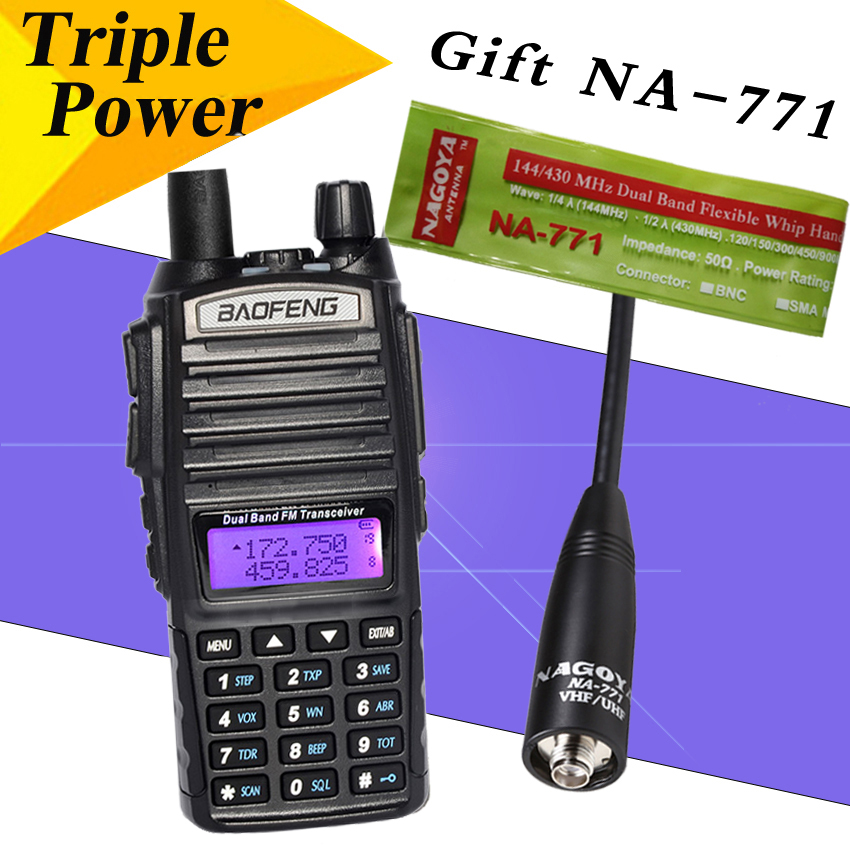bilder für Baofeng UV-82 Walkie Talkie 8 Watt Radio set UV82HX Portable Two Way Radio FM CB Radio Transceiver Langstrecken-dualband-transceiver UV82 px-888k