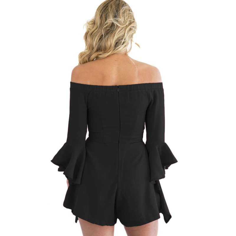 Black-Off-shoulder-Frill-Sleeve-Playsuit-LC64171-2-4_conew1