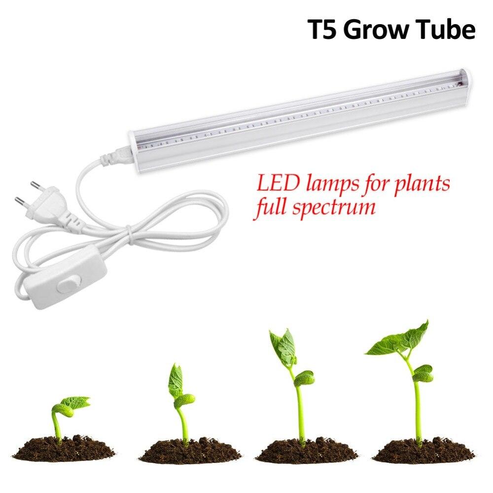 5W 10W 25W 50W IR UV CFL LED Full Spectrum Grow Light T5 Tube Lampada Indoor Plant Lamp Hydroponics System Flowering Garden