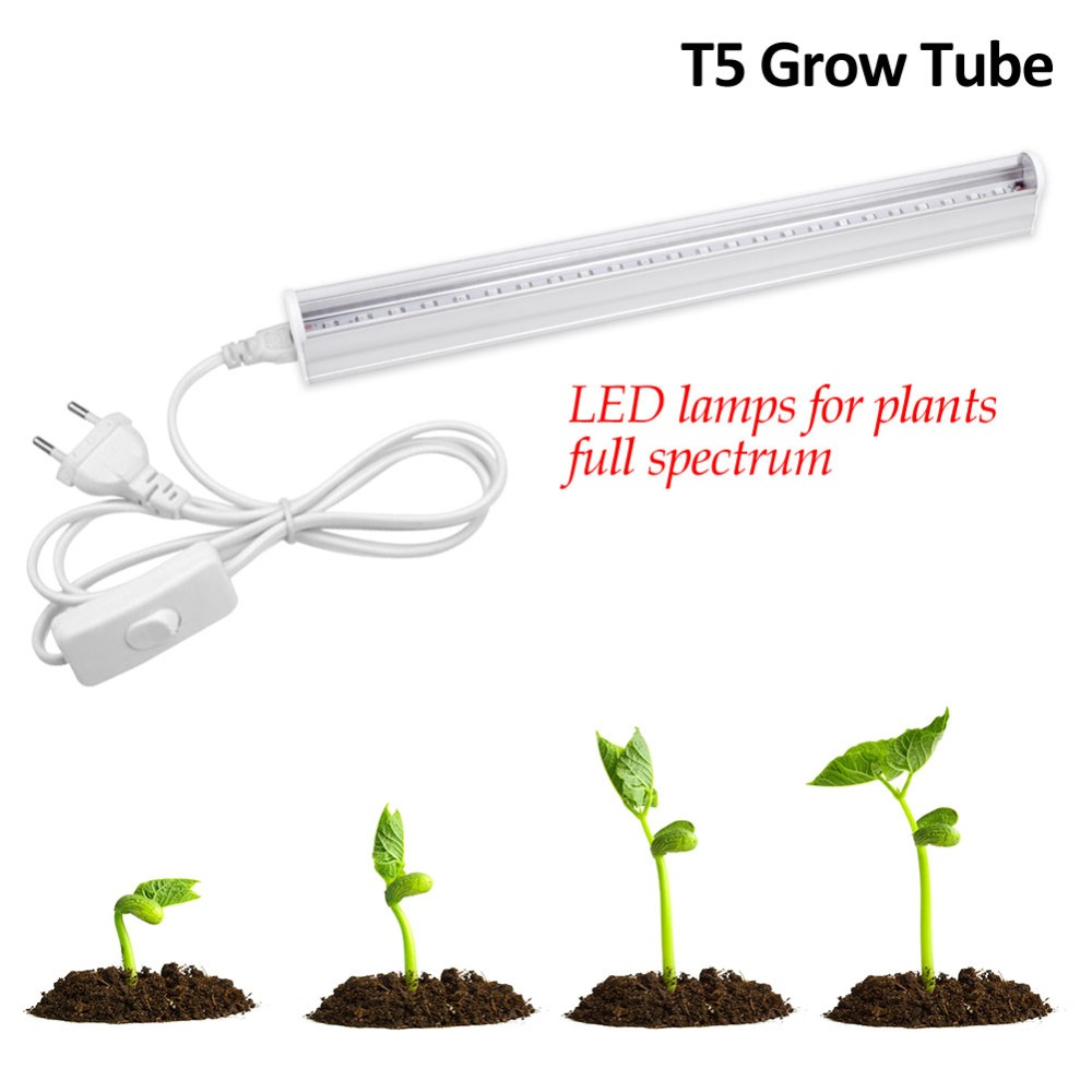 5W 10W 25W 50W IR UV CFL LED Full Spectrum Grow Light T5 Tube Lampada Indoor Plant Lamp Hydroponics System Flowering Garden