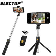 3 Di 1 Nirkabel Bluetooth Selfie Stick untuk iPhone Android Huawei Foldable Handheld Monopod Shutter Remote Dapat Diperpanjang Mini tripod(China)