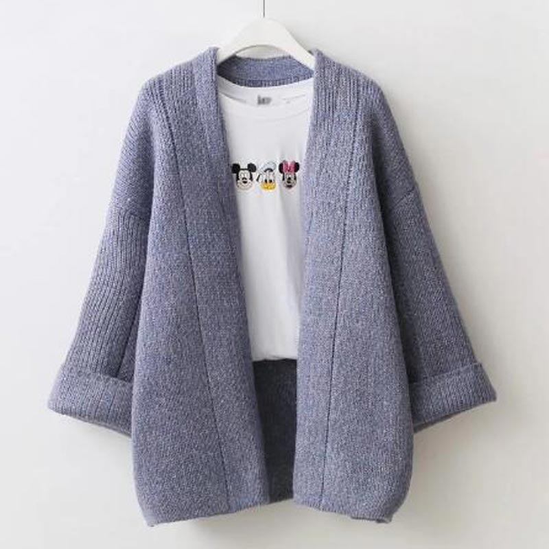 Women sweater cardigans Clothes 2017 new Open Stitch sweaters Fashion Autumn Winter Long Sleeve Loose Knitted Female Coat QH0408