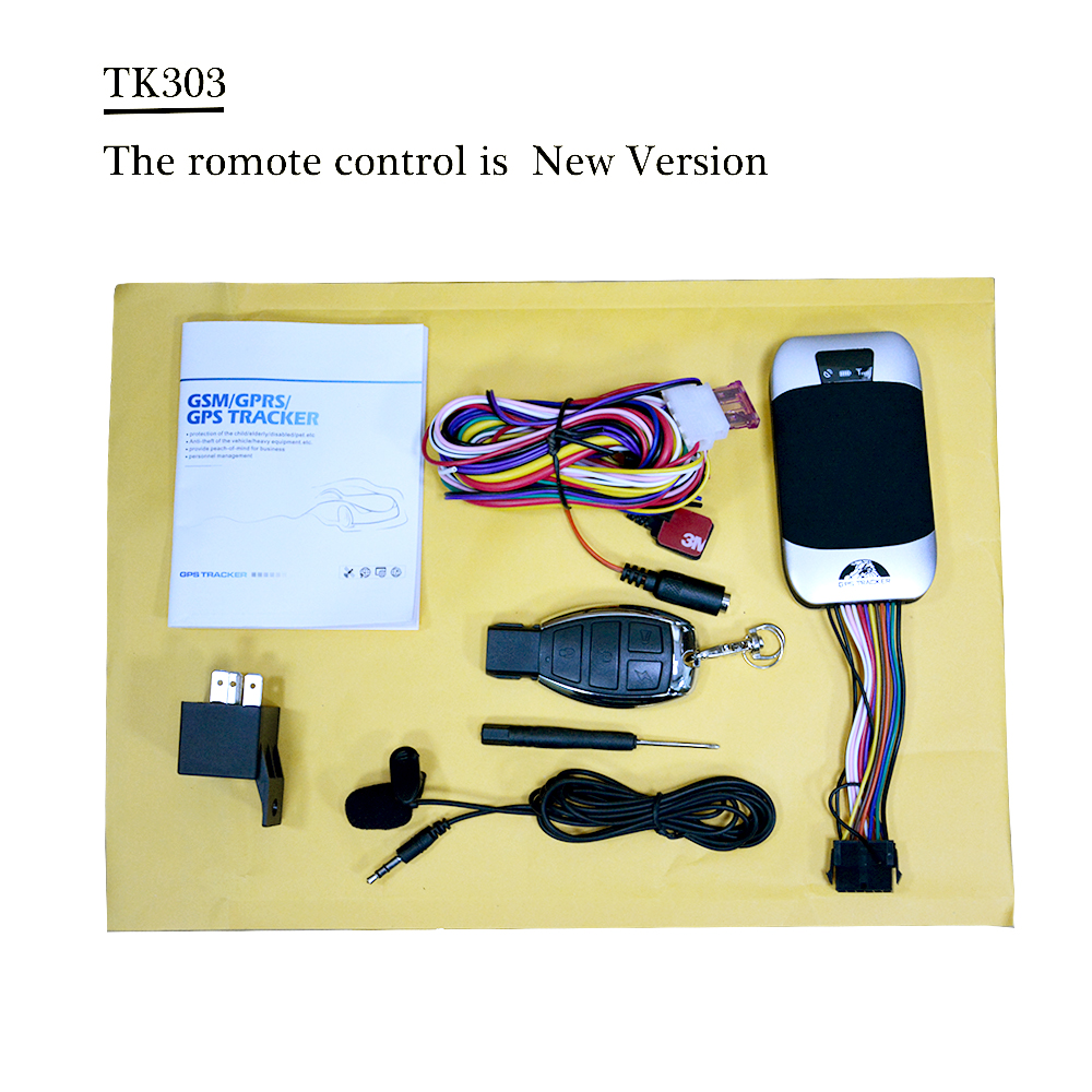 Free shipping Motorcycle Car GPS Tracker LBS GPS Double Real Time Tracking Remote Controller optional no box  2G 3G network