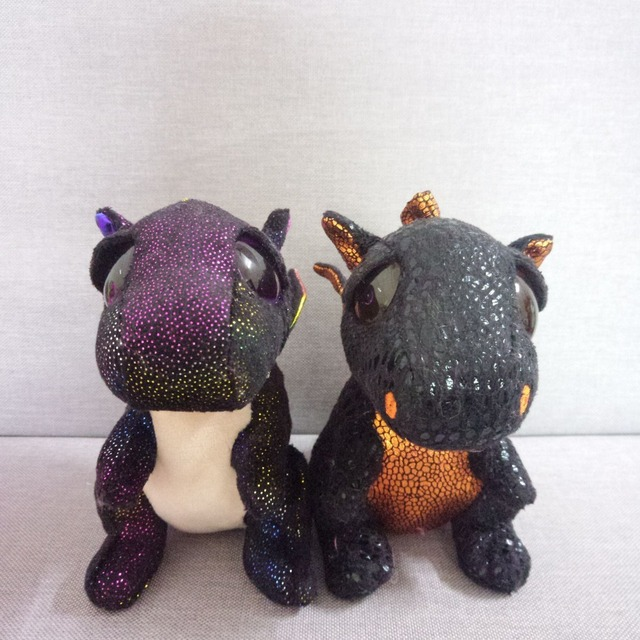 Ty Beanie Boo Cinder Green Darla Saffire Anora Merlin Dragon Pig Cat Unicorn  Wolf Cat Fox Dog Plush Toy Doll Stuffed Animal 9a43501f71a