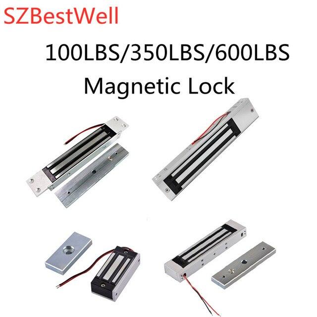 SZBestWell 60 kg/180 kg/280 kg (100LBS 350LBS 600LBS) מחזיק כוח חשמלי מנעול מגנטי להשתמש עבור בקרת גישה מערכת שימוש