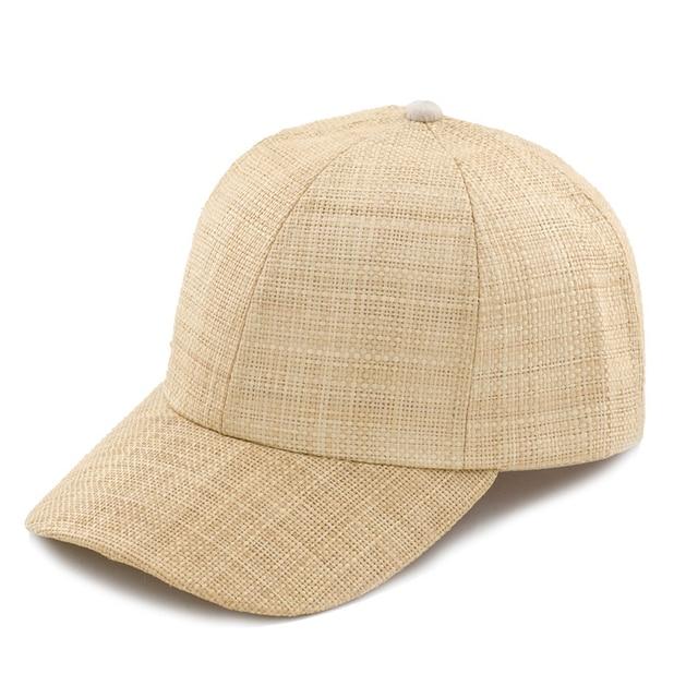 Muchique Baseball Cap Hat for Women Dad Hat for Men Raffia Straw Cloth Caps  Summer hat 6ec04b4f4be