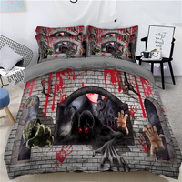 Halloween 3D Horror game monsters Bedding Set Digital printing Duvet Cover Bed Sheet Pillowcases Twin Queen Super king Size