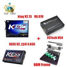 Новый KESS V2 4.036 V2.25 OBD2 менеджер + KTAG 2.13 FW6.070 KTAG K-тег ЭКЮ программист + FGTECH Galletto 4 Мастер V54 + BDM кадр адаптер